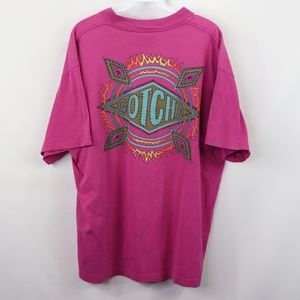 Vintage Gotcha Spell Out Fire Ring Surf Shirt XL